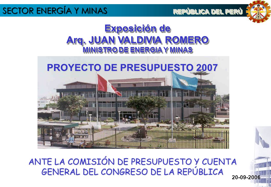 SECTOR ENERGÍA Y MINAS 4.1 PRESUPUESTO DE OPDs IPEN PRESUPUESTO POR TIPO DE GASTO 2007 (En Nuevos Soles)