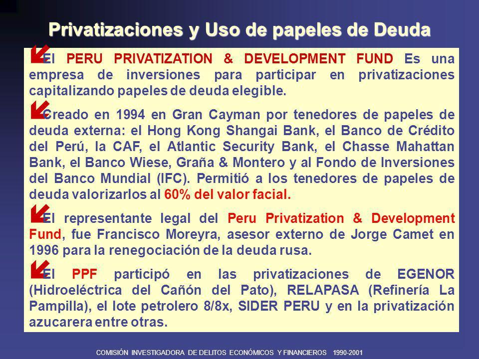 COMISIÓN INVESTIGADORA DE DELITOS ECONÓMICOS Y FINANCIEROS 1990-2001 EN CUANTO AL COSTO SOCIAL: EMPLEO EN CUANTO AL COSTO SOCIAL: EMPLEO Hasta 1999, habían sido cesados 120,000 trabajadores de empresas públicas.