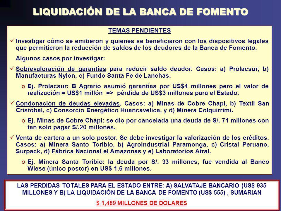 COMISIÓN INVESTIGADORA DE DELITOS ECONÓMICOS Y FINANCIEROS 1990-2001 Patrocinio ilegal de empresas vinculadas con altos funcionarios públicos.
