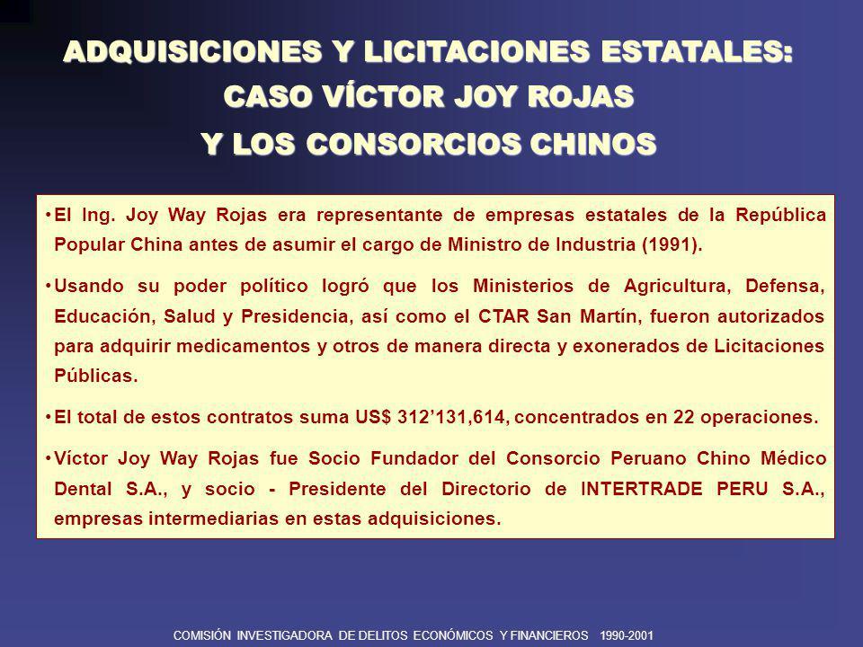 COMISIÓN INVESTIGADORA DE DELITOS ECONÓMICOS Y FINANCIEROS 1990-2001 ADQUISICIONES Y LICITACIONES ESTATALES: CASO JJC Contratistas Generales S.A.