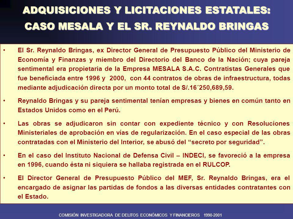 COMISIÓN INVESTIGADORA DE DELITOS ECONÓMICOS Y FINANCIEROS 1990-2001 Adquisiciones y licitaciones estatales: Caso SVC INGENIERÍA Y CONSTRUCCIÓN S.A.