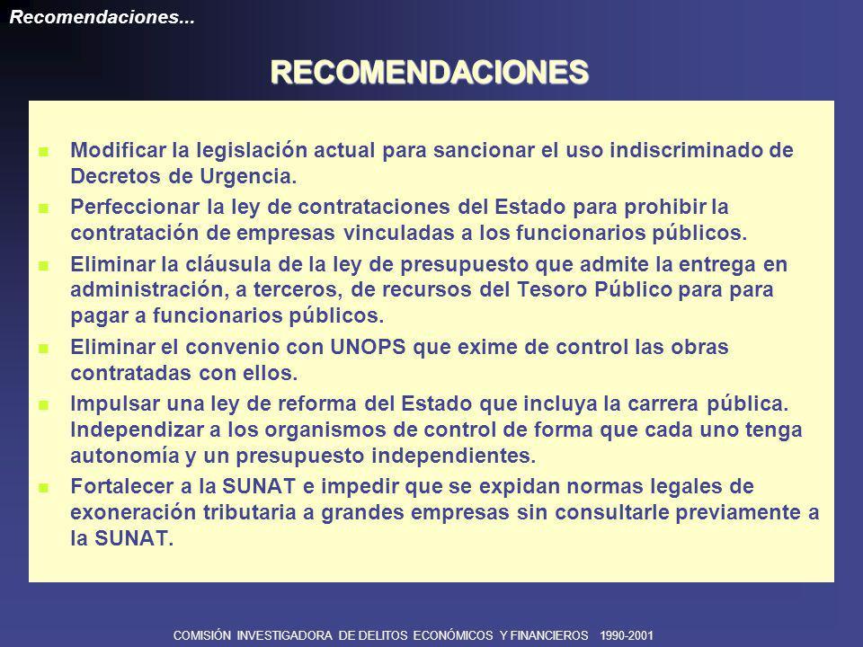 COMISIÓN INVESTIGADORA DE DELITOS ECONÓMICOS Y FINANCIEROS 1990-2001 Revisar la Ley de Bancos para evaluar qué modificaciones realizadas en el marco del salvataje bancario, desarticularon la concepción primigenia de la Ley de 1996.