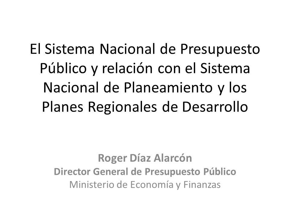 Contenido Marco de referencia Los procesos de la Gestión Financiera Pública El Sistema Nacional de Presupuesto Público Lineamientos estratégicos para fortalecer el sistema nacional de presupuesto