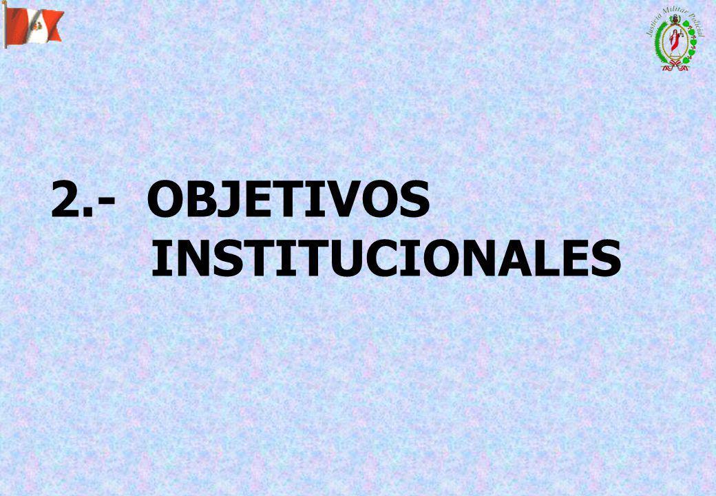 2.- OBJETIVOS INSTITUCIONALES