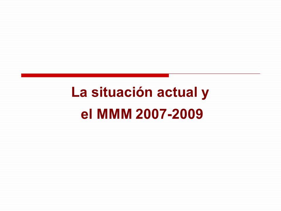 La situación actual y el MMM 2007-2009