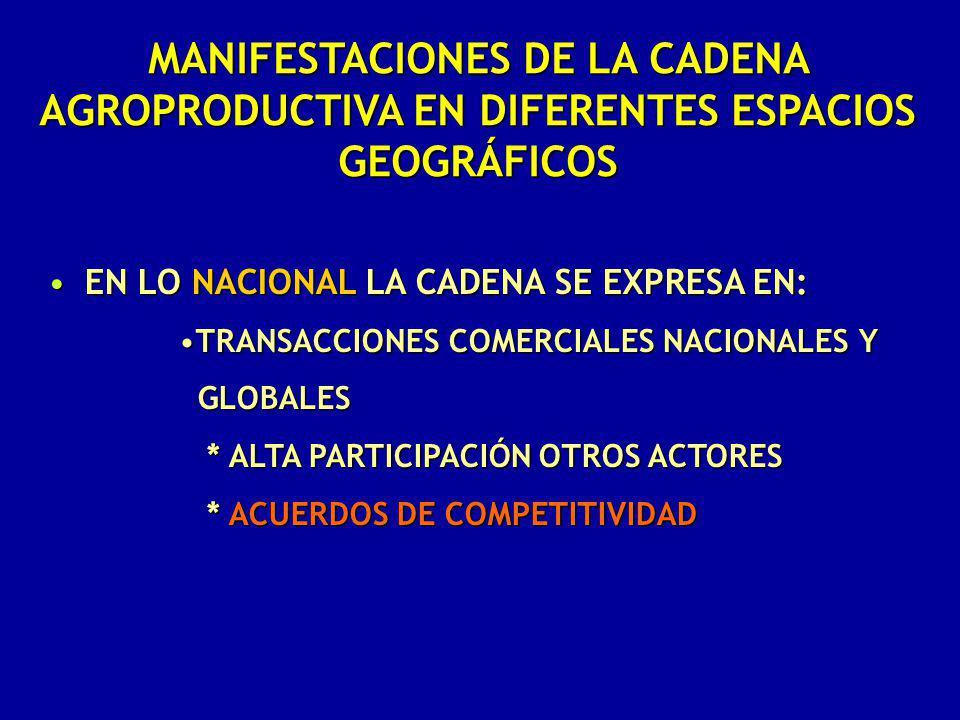 EN LO NACIONAL LA CADENA SE EXPRESA EN:EN LO NACIONAL LA CADENA SE EXPRESA EN: TRANSACCIONES COMERCIALES NACIONALES YTRANSACCIONES COMERCIALES NACIONA