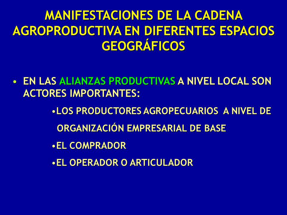 EN LAS ALIANZAS PRODUCTIVAS A NIVEL LOCAL SON ACTORES IMPORTANTES:EN LAS ALIANZAS PRODUCTIVAS A NIVEL LOCAL SON ACTORES IMPORTANTES: LOS PRODUCTORES A