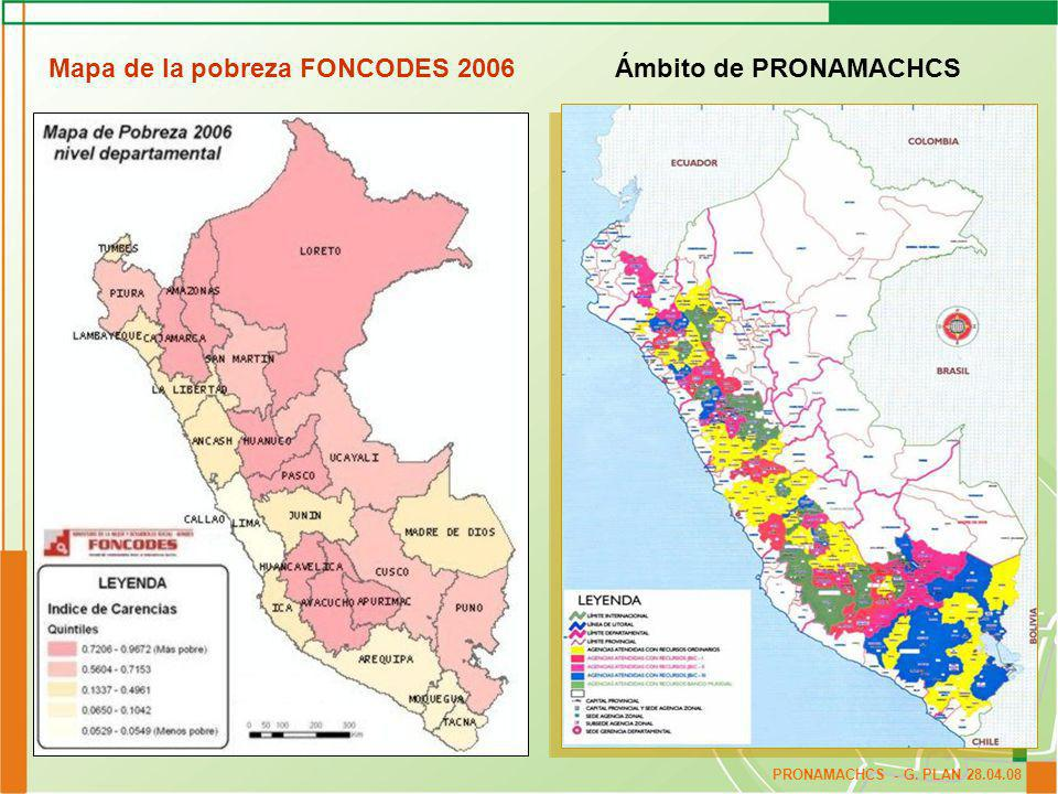 PRONAMACHCS - G. PLAN 29.04.08 Presupuesto Asignado y Ejecutado 2006 -2007