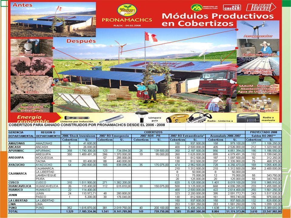 PRONAMACHCS - G. PLAN 29.04.08 Presupuesto Asignado y Ejecutado 2008