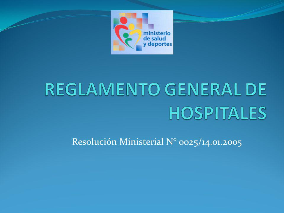 Resolución Ministerial N° 0025/14.01.2005