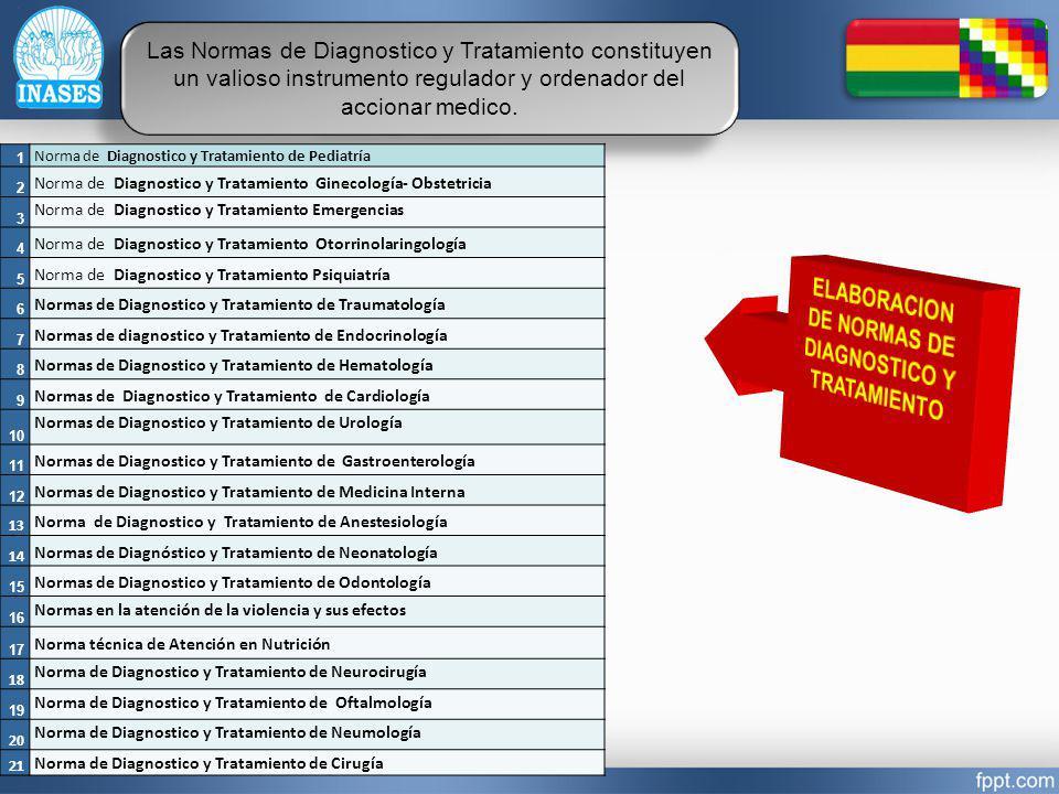 Las Normas de Diagnostico y Tratamiento constituyen un valioso instrumento regulador y ordenador del accionar medico. 1 Norma de Diagnostico y Tratami
