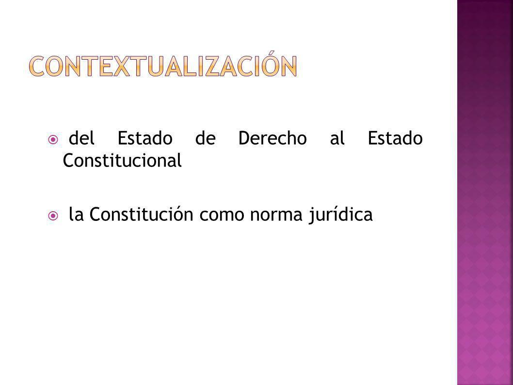 del Estado de Derecho al Estado Constitucional la Constitución como norma jurídica