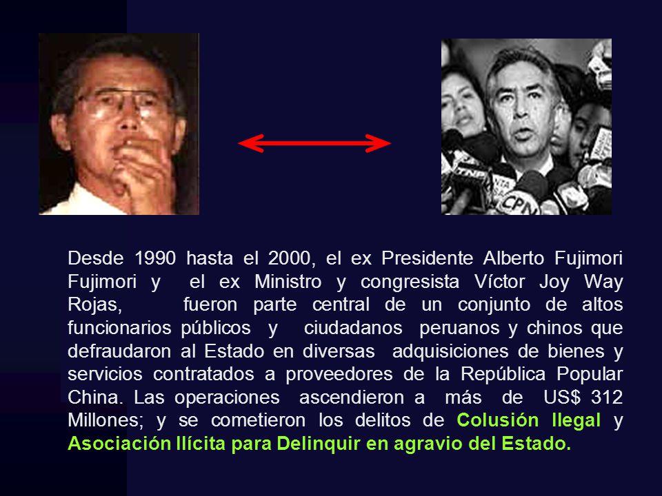 DENUNCIADOS Alberto Fujimori Fujimori (Denuncia Constitucional) Victor Joy Way Rojas.