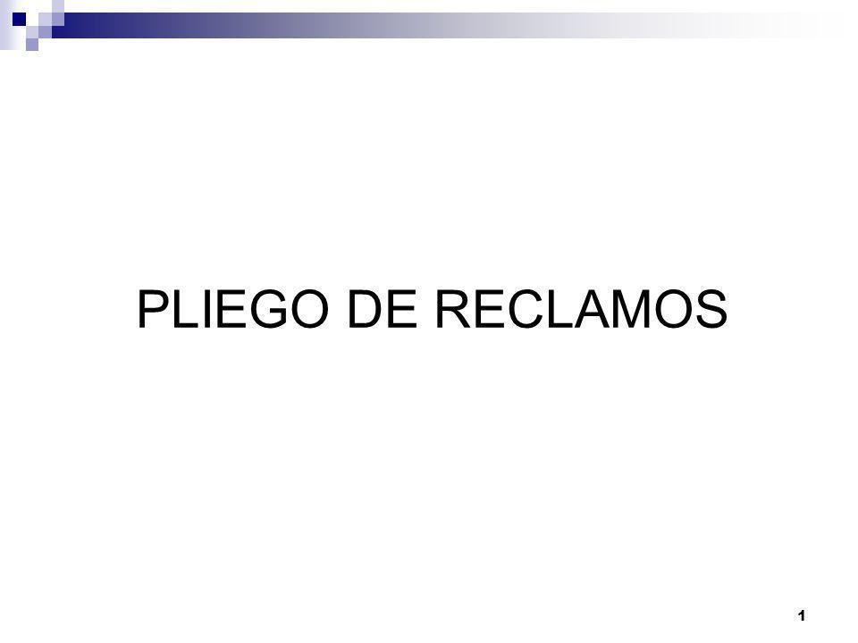 1 PLIEGO DE RECLAMOS