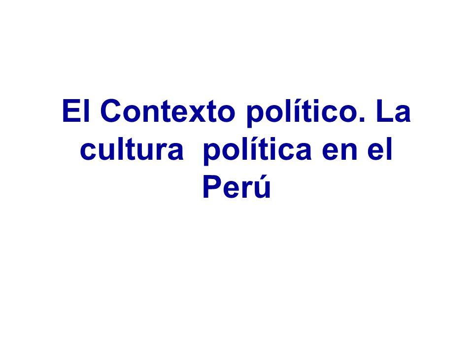 El Contexto político. La cultura política en el Perú