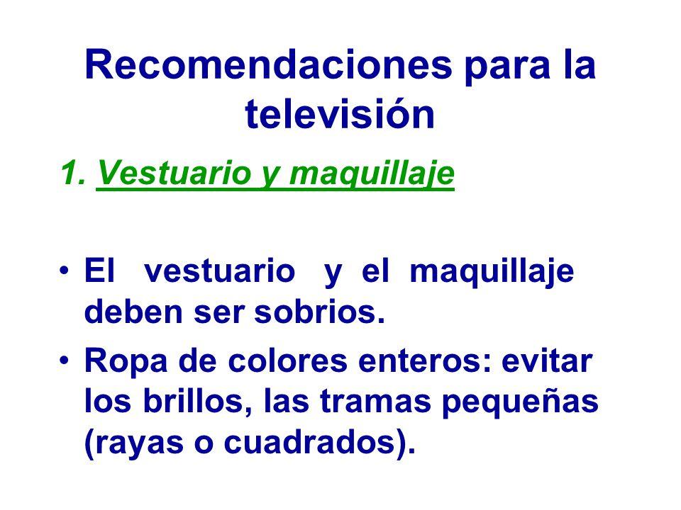 Recomendaciones para la televisión 1.