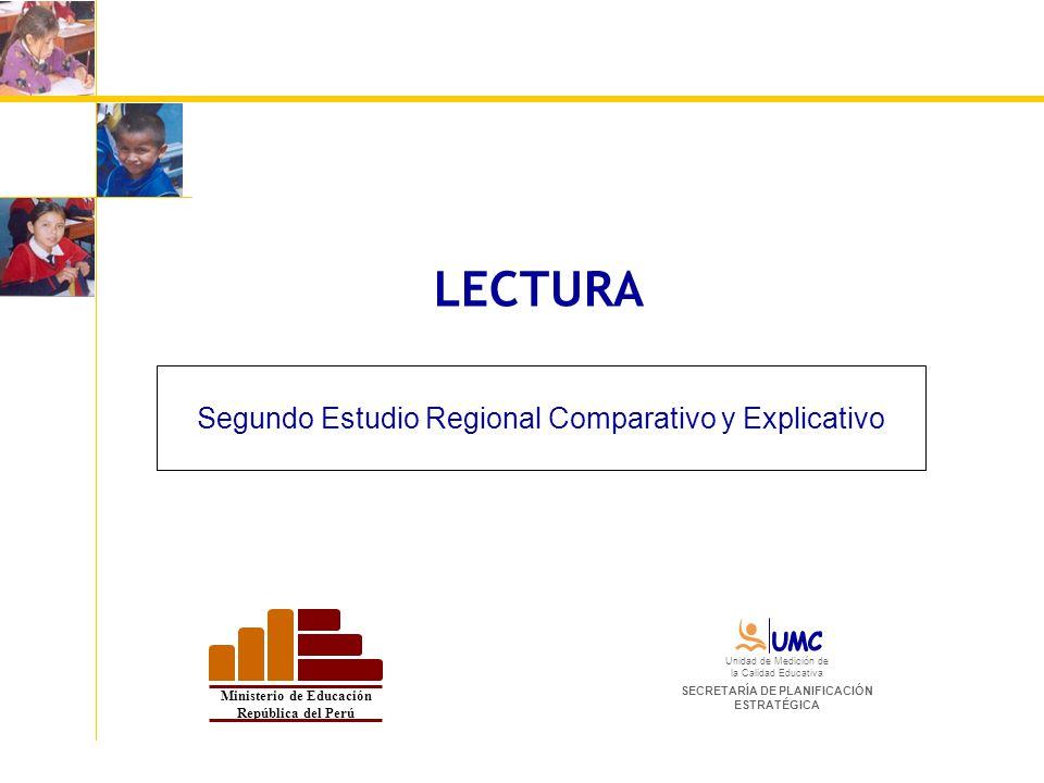 LECTURA Segundo Estudio Regional Comparativo y Explicativo Ministerio de Educación República del Perú Unidad de Medición de la Calidad Educativa SECRE