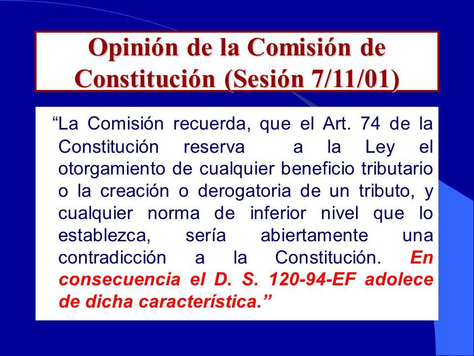 Opinión de Connotados Tributaristas Dr. Alberto Quimper Herrera y Dr. Armando Zolezzi Moller( Decano de la Facultad de Derecho de PUCP) Concuerdan que