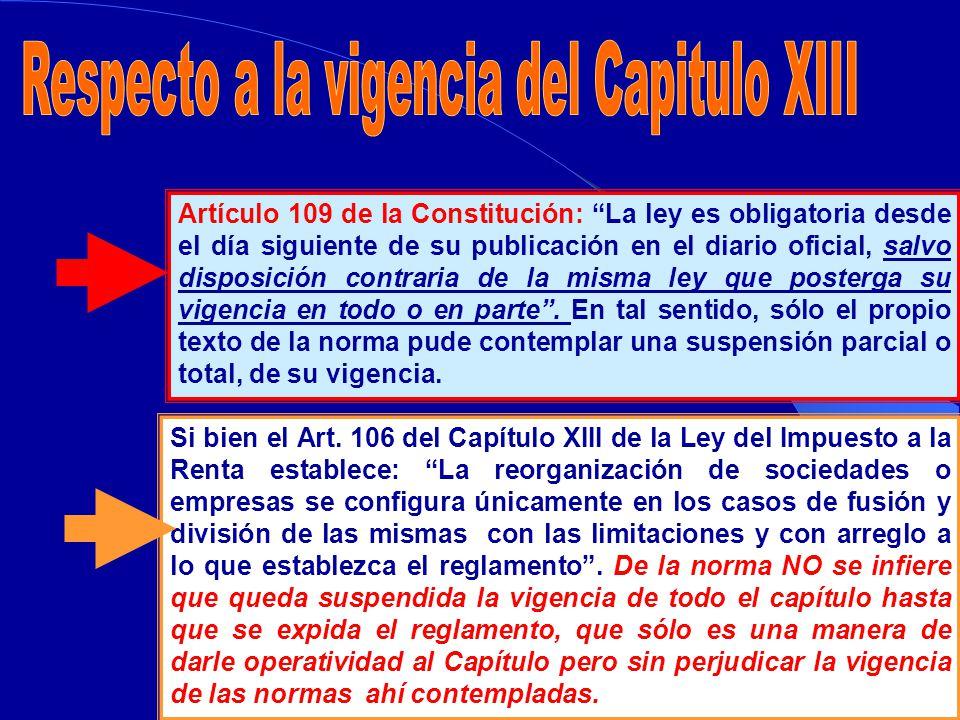 ARGUMENTOS DE LA DEFENSA DE JORGE CAMET Al no estar vigente el Capítulo XIII de la Ley de Impuesto a la Renta, eran de plena aplicación los artículos