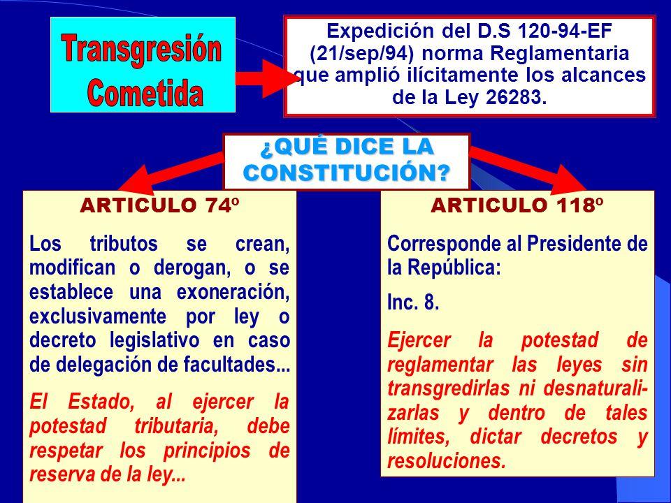 Denuncia Constituacional Nº 052 contra Alberto Fujimori Fujimori y Jorge Camet Dickman por Infracción Constitucional (Art. 74 y Art. 118 – inc. 8 de l