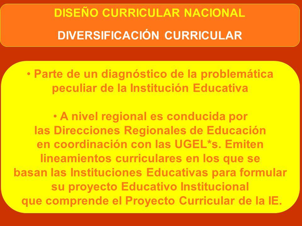 DIVERSIFICABLE La construcción del currículo debe adecuarse a características y demandas de regiones, localidades e instituciones educativas donde se