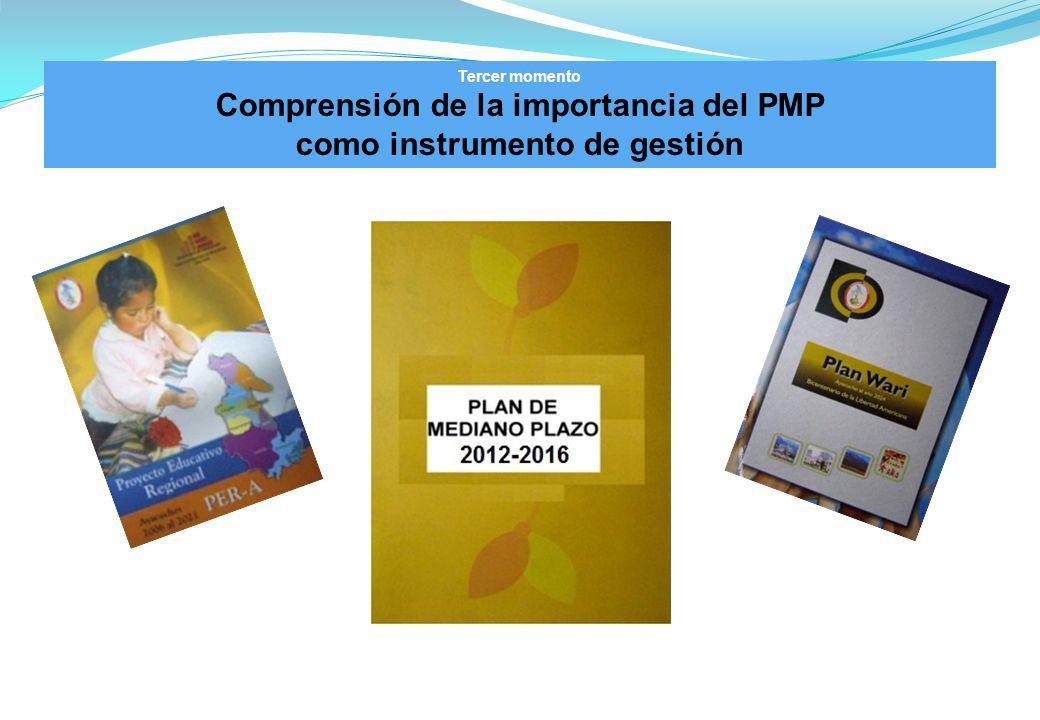 Tercer momento Comprensión de la importancia del PMP como instrumento de gestión