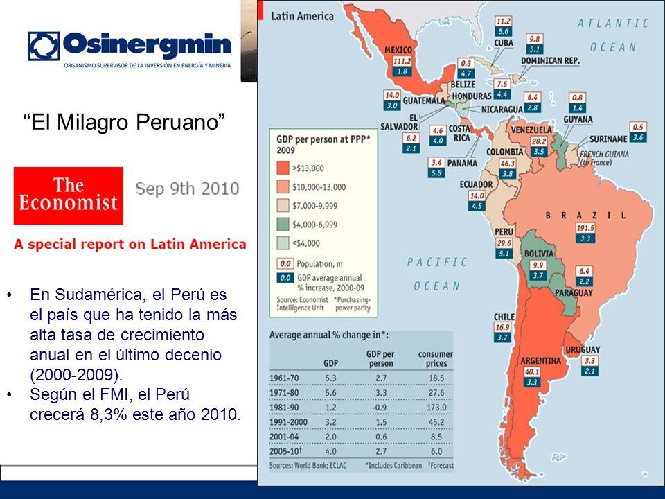 El Milagro Peruano En Sudamérica, el Perú es el país que ha tenido la más alta tasa de crecimiento anual en el último decenio (2000-2009).