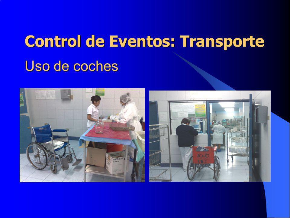 Uso de coches Control de Eventos: Transporte