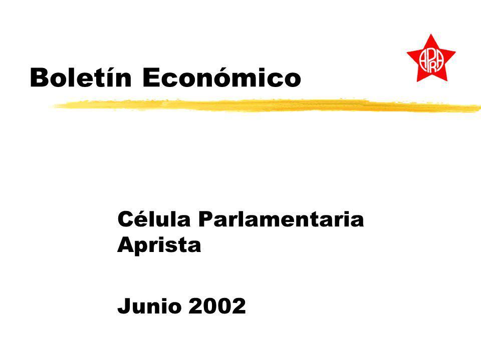 Boletín Económico Célula Parlamentaria Aprista Junio 2002