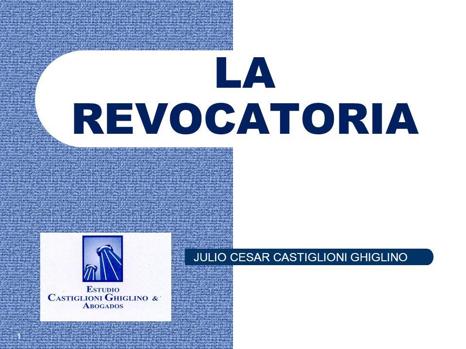 LA REVOCATORIA 1 JULIO CESAR CASTIGLIONI GHIGLINO