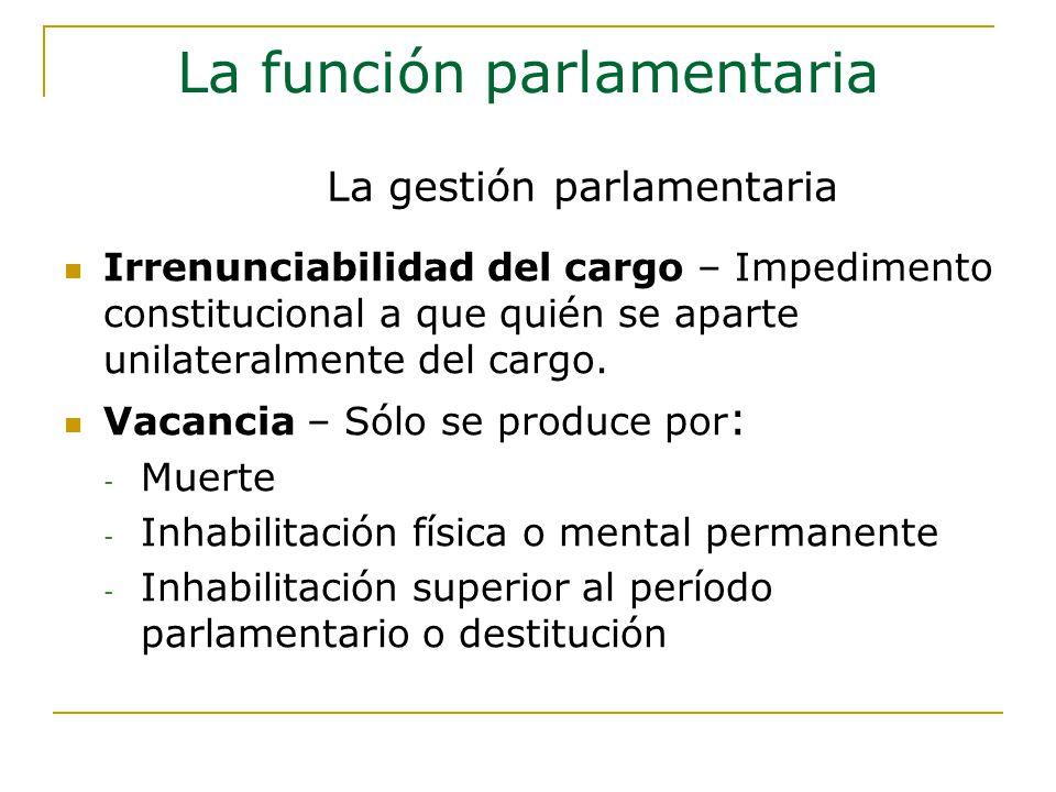 Irrenunciabilidad del cargo – Impedimento constitucional a que quién se aparte unilateralmente del cargo.