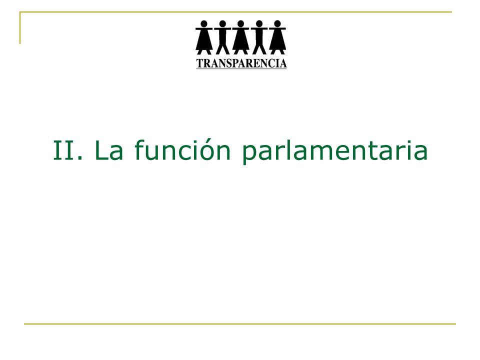 II. La función parlamentaria