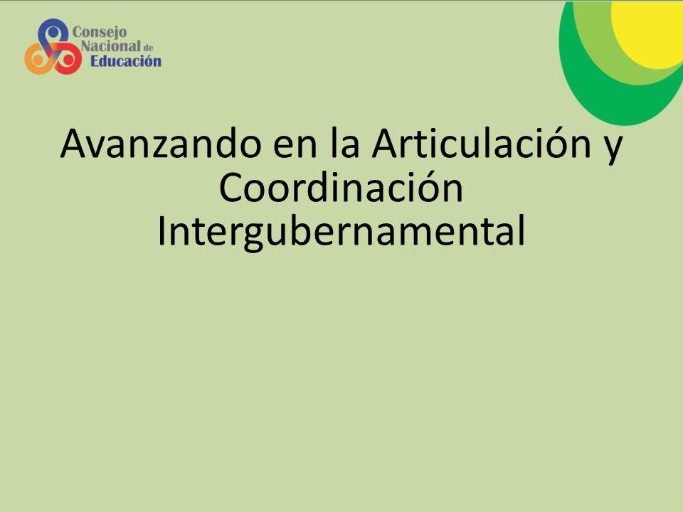 Avanzando en la Articulación y Coordinación Intergubernamental