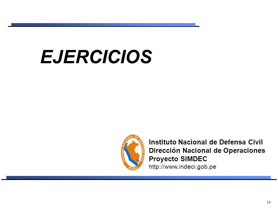 18 POBLACION OBJETIVO COE AUTORIDADES INSTITUCIONES PERSONAS Unidad de Prevención y Operaciones Unidad de Planeamiento SALTOS DE TIEMPO (GENERACION) I