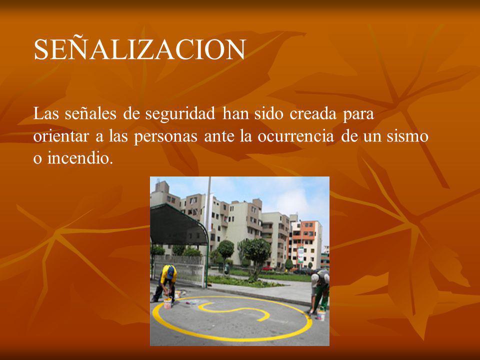 RUTA DE EVACUACION Flechas cuyo objetivo, es orientar el flujo de evacuacion En pasillos y areas peatonales,con direccion a las zonas de seguridad interna y externa, las cuales seran colocadas de adentro hacia afuera.