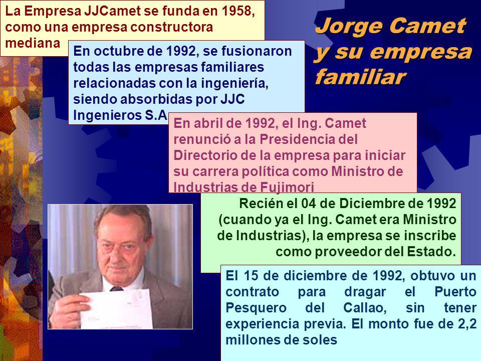 La Empresa JJCamet se funda en 1958, como una empresa constructora mediana Jorge Camet y su empresa familiar Recién el 04 de Diciembre de 1992 (cuando