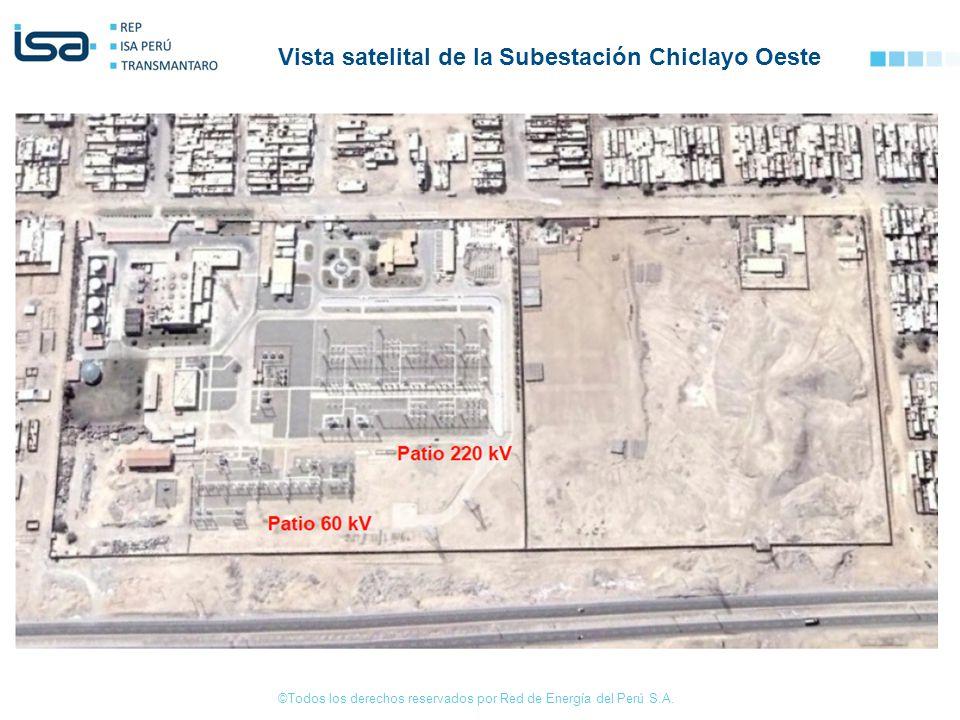 ©Todos los derechos reservados por Red de Energía del Perú S.A. Vista satelital de la Subestación Chiclayo Oeste