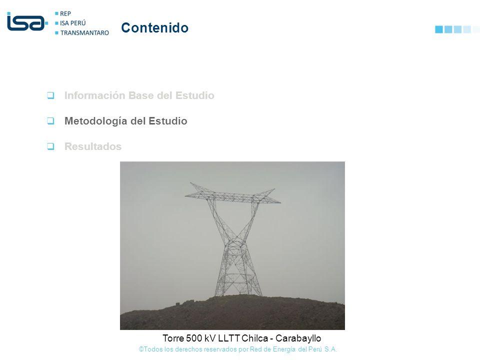 ©Todos los derechos reservados por Red de Energía del Perú S.A. Contenido Información Base del Estudio Metodología del Estudio Resultados Torre 500 kV