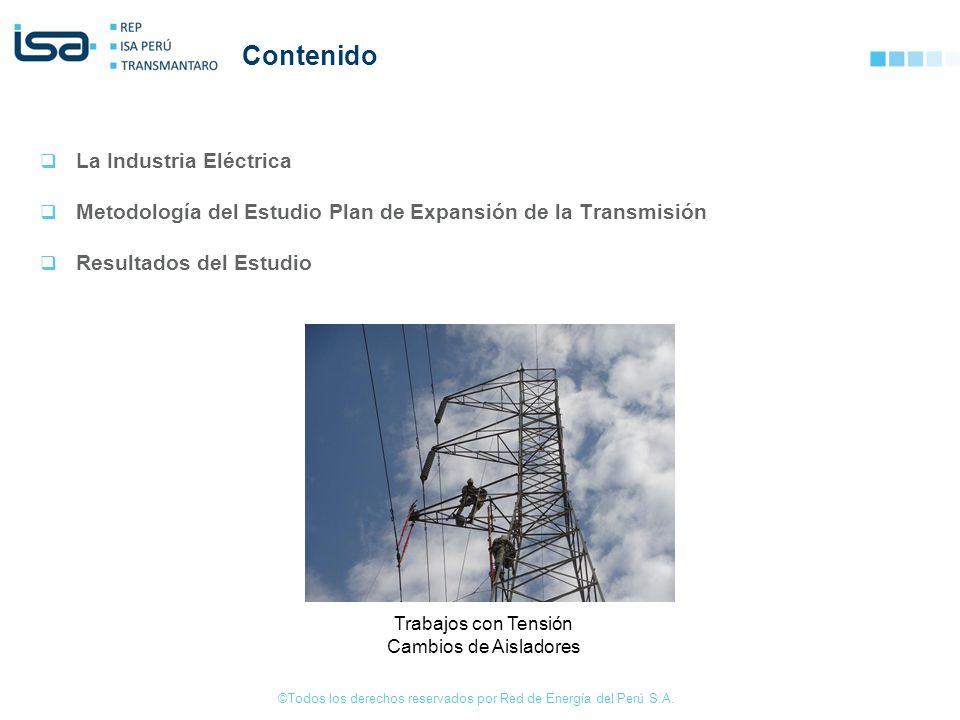 ©Todos los derechos reservados por Red de Energía del Perú S.A. Contenido La Industria Eléctrica Metodología del Estudio Plan de Expansión de la Trans