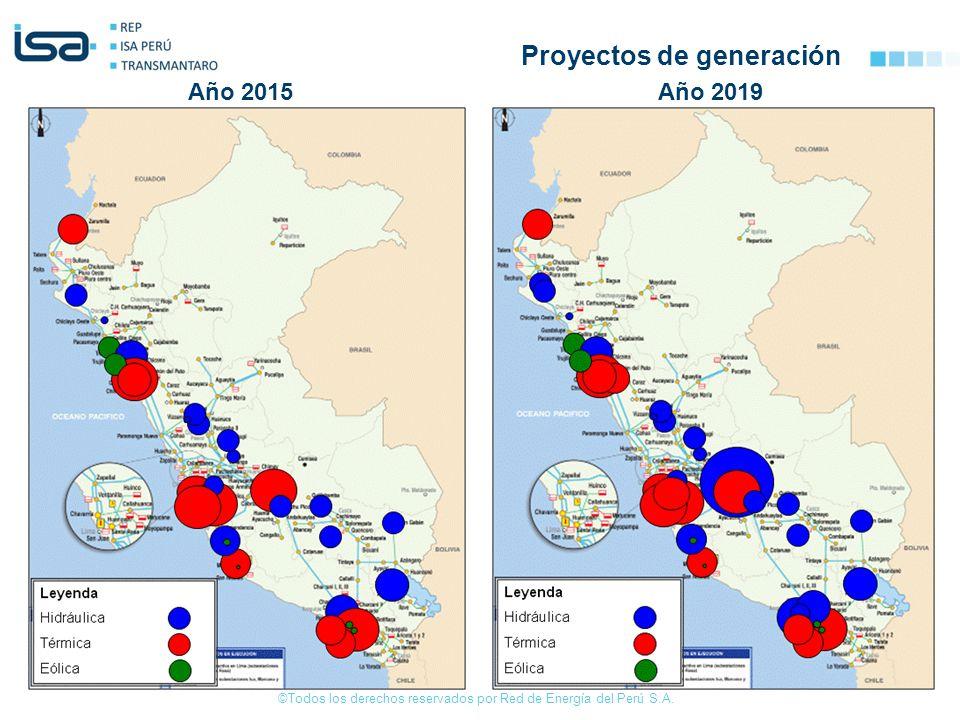 ©Todos los derechos reservados por Red de Energía del Perú S.A. Año 2015Año 2019 Proyectos de generación