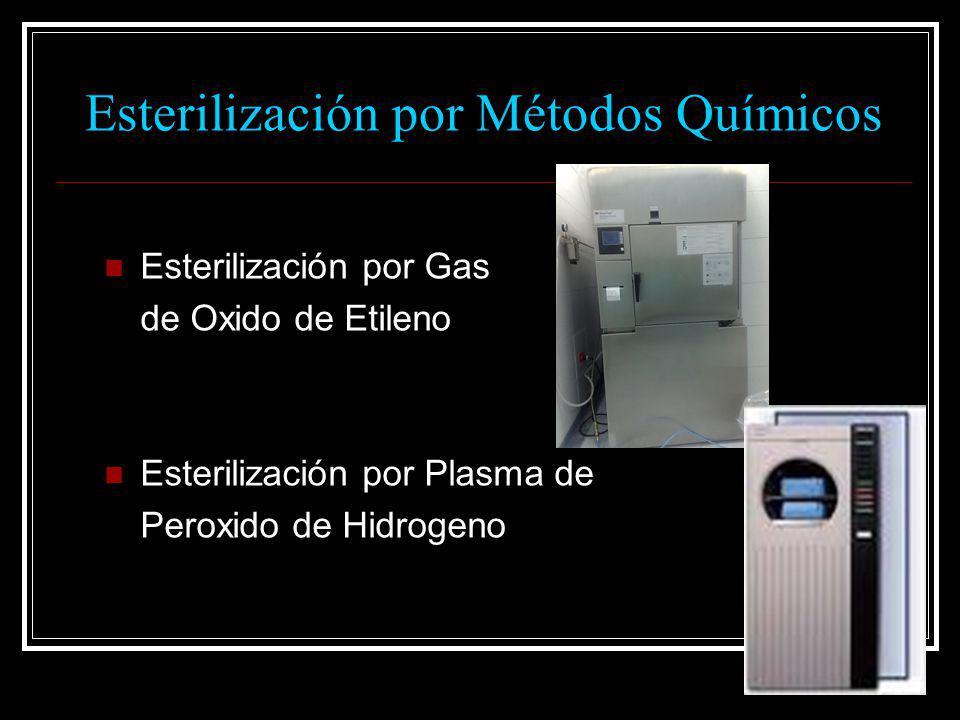 Esterilización por Gas de Oxido de Etileno Esterilización por Plasma de Peroxido de Hidrogeno Esterilización por Métodos Químicos