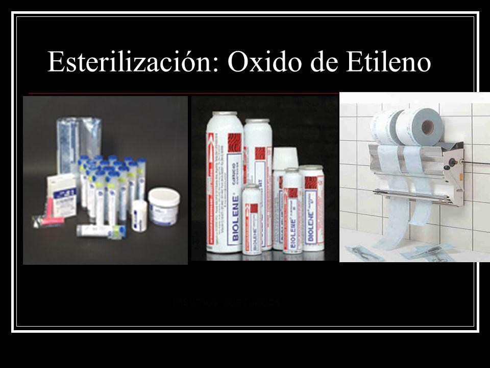 Esterilización: Oxido de Etileno Insumos adecuados
