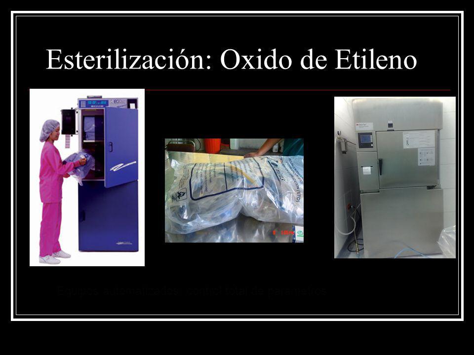 Esterilización: Oxido de Etileno Equipos automatizados: control total de parametros