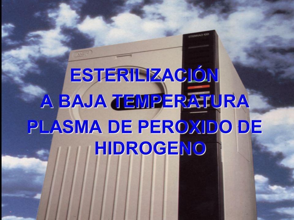ESTERILIZACIÓN A BAJA TEMPERATURA PLASMA DE PEROXIDO DE HIDROGENO