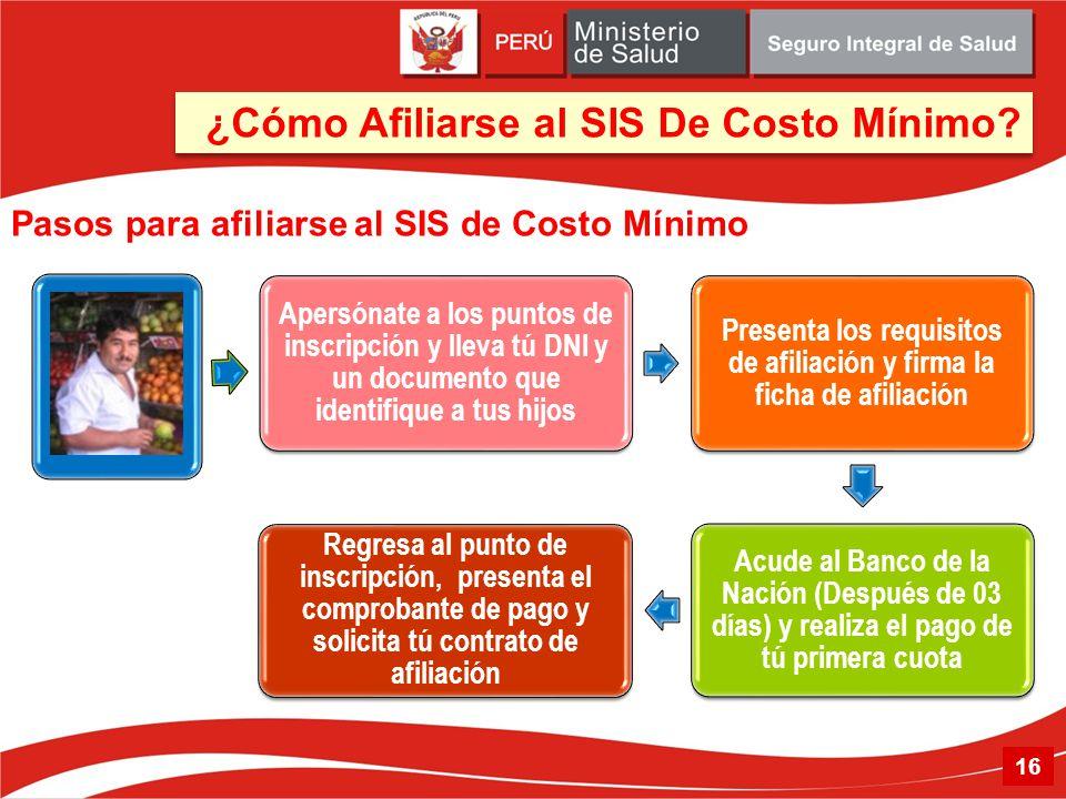 Pasos para afiliarse al SIS de Costo Mínimo 16 ¿Cómo Afiliarse al SIS De Costo Mínimo?