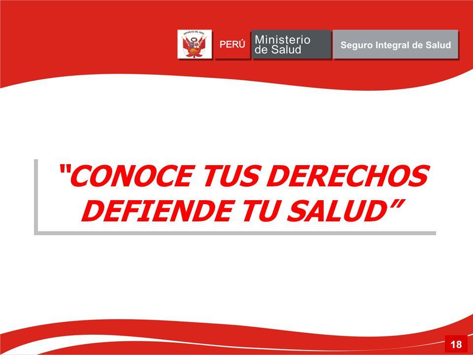 CONOCE TUS DERECHOS DEFIENDE TU SALUD 18