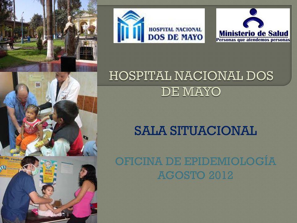 SALA SITUACIONAL OFICINA DE EPIDEMIOLOGÍA AGOSTO 2012