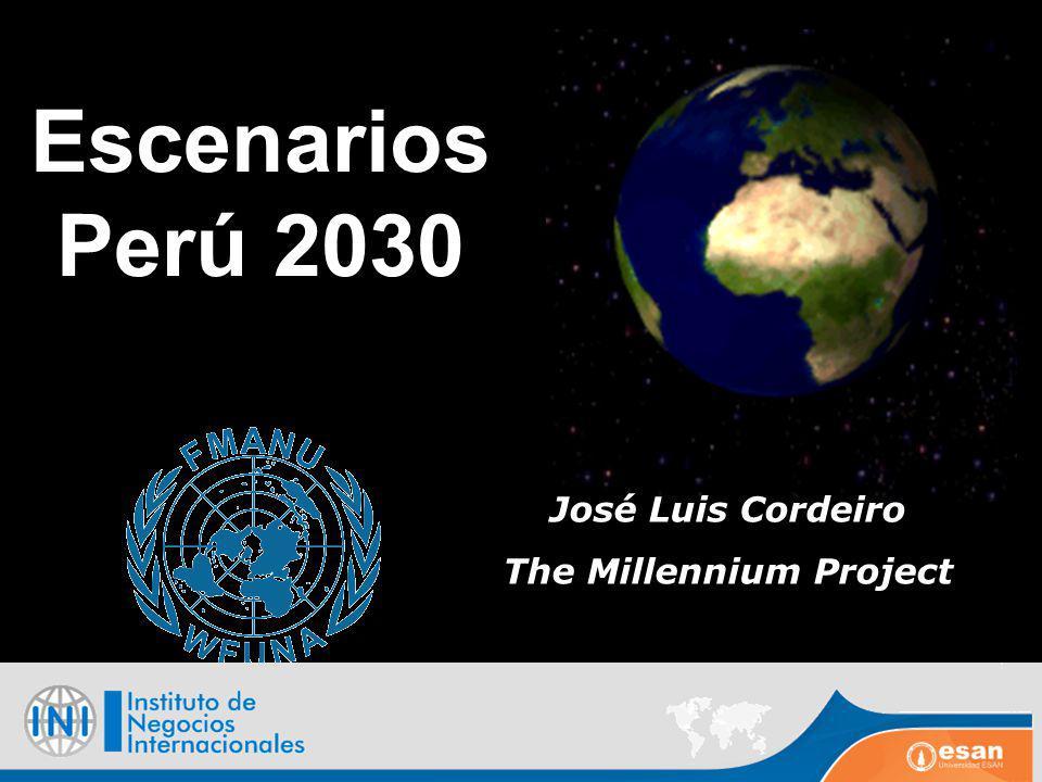 Escenarios Perú 2030 José Luis Cordeiro The Millennium Project