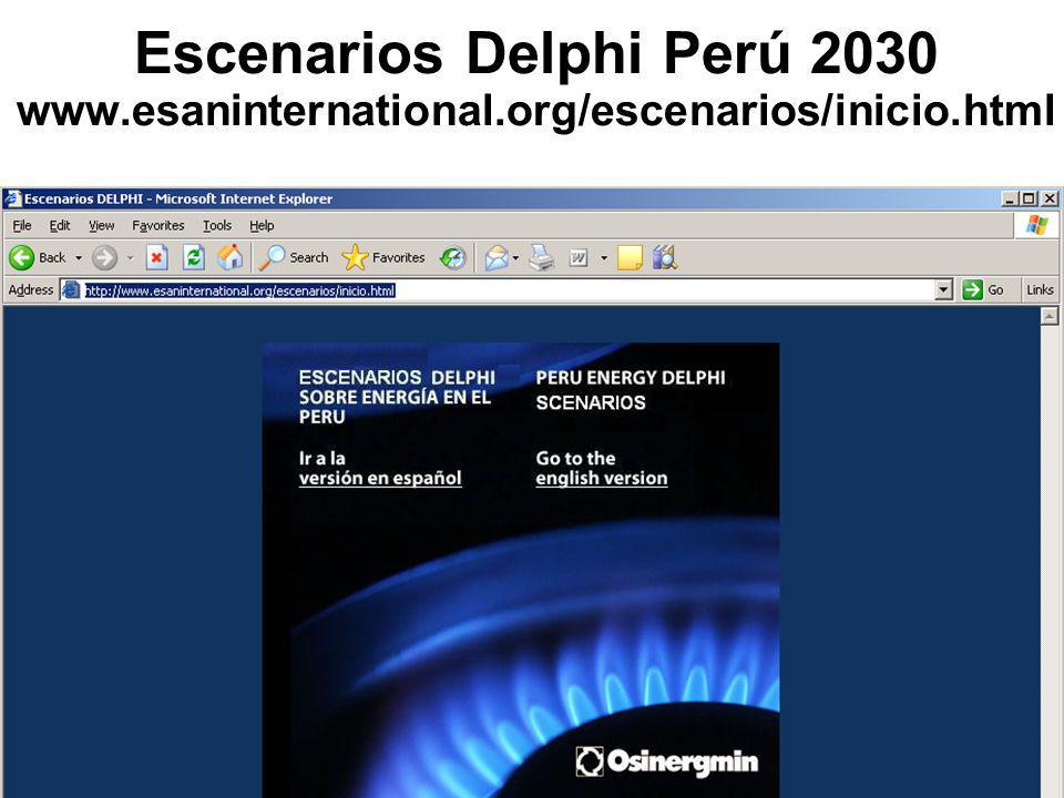 Escenarios Delphi Perú 2030 www.esaninternational.org/escenarios/inicio.html
