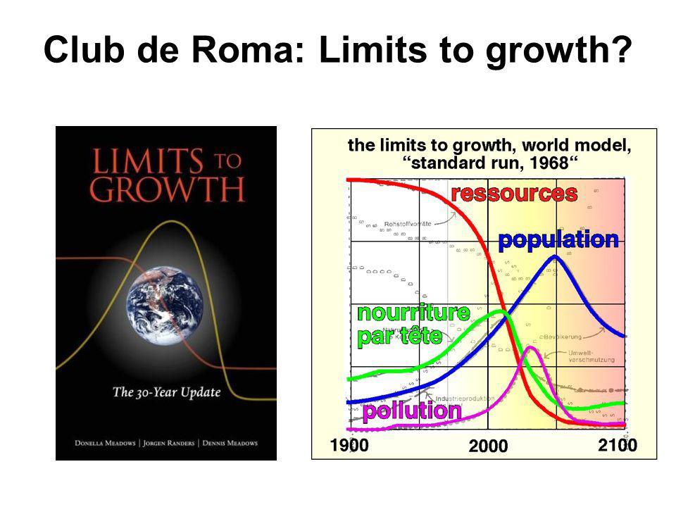 Club de Roma: Limits to growth?